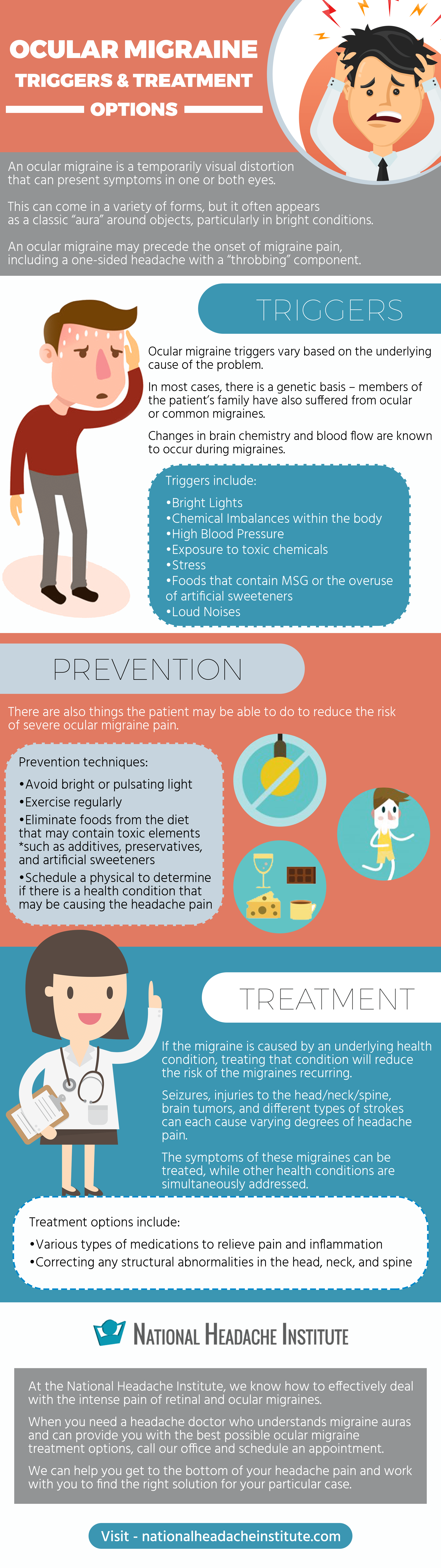 (Infographic) Ocular Migraines: Triggers and Treatments